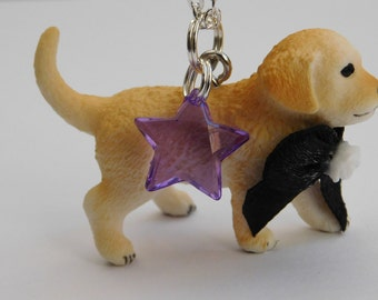Whimsical Golden Retriever Puppy Necklace