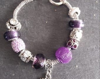 Parma/purple bracelets to charms, charms and pendants