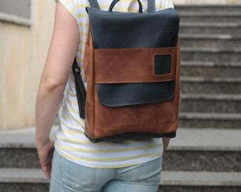 Handmade Leather backpack, leather rucksack , leather backpack mens, Vintage leather backpack, school backpack, gift, women backpack