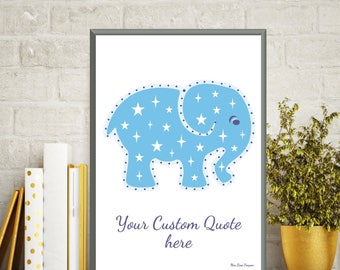 Custom poster, Illustration children elephant, Nursery art boy, Children baby poster, Kids room print, Animal print, Nursery decor wall art