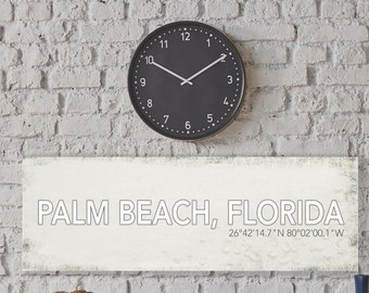 Palm Beach Florida Wall Canvas, Palm Beach Vintage City Canvas, Printed on Canvas, Vintage Wall Decor, Vintage Wall Art