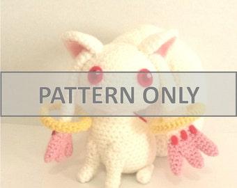 PATTERN - Puella Magi Madoka Magica Kyubey Crochet Plushie