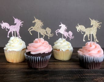 Unicorn cupcake toppers, unicorn party, unicorn party decorations, unicorn decor, girl birthday, birthday decorations, party decoration