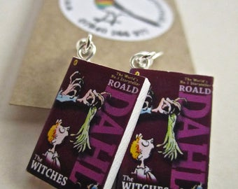 "The Witches  Book Earrings from ""The Earring Library"""