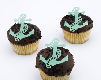Ship,anchor,sailor,Nautical,Captain,Navy,edible cupcake topper,rice paper cake,edible cake, rice paper topper,edible,rice paper cupcake,cake