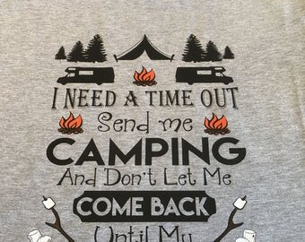 Camping t shirt, out in the woods, attitude problem, gift for mom or dad, take me camping, present for the camper, love to camp, camper