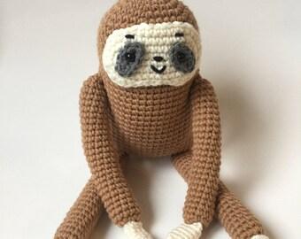 Sloth Crochet Pattern - amigurumi sloth - gremblygunk crochet pattern