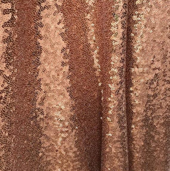Bronze Sequin Fabric Copper Full Sequins Bronze Sequin