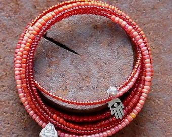 Red flexible bracelet