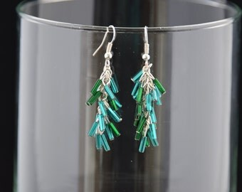 Czech Glass Cascade Earrings