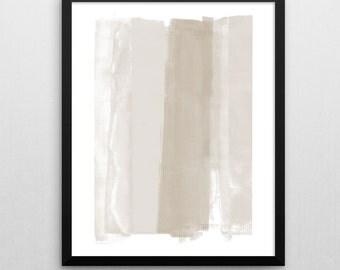 Modern Minimalist Abstract Printable Art, Beige & Brown Contemporary Wall Art Print, Neutral Home Decor, Instant Download, Abstaract Art