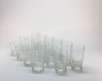 Vintage Indiana Glass 'Crystal Ice' glassware set of 16