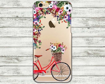 iPhone 7 Plus case bike iPhone 7 bicycle case iPhone 6, 6s transparent case, iPhone 6 plus case, iPhone 5, 5s case, iPhone SE case.