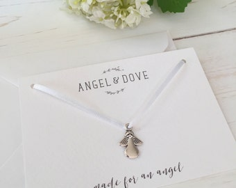 Made for an Angel Silver Remembrance Charm Sympathy Card - Miscarriage, Stillbirth, Baby Loss Gift