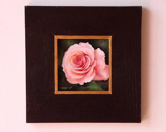 Rose flower oil painting, Rose original oil painting, flowers