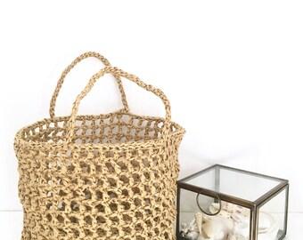 Crochet basket. Oiser basket. Decorative storage. Crochet storage Basket.