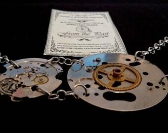 Steampunk pocket watch decomposed