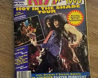 Kiss Alive 1990 Hot in the Shade tour magazine
