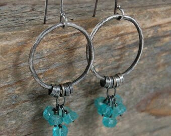 SALE 15% off !! - use the coupon code: SALE15  apatite silver earrings