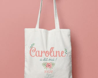 Personalized tote Bridal Party - Bridal tote bag Bachelorette