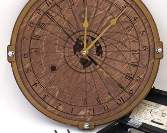 Celestial 24 Hour wooden decorative wall clock