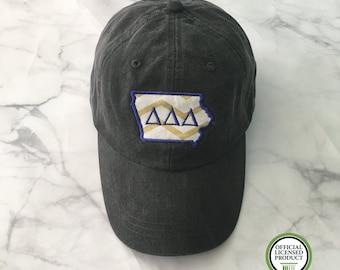 Tri Delta Iowa Hat, Tri Delta Gift, Iowa Hat, Iowa Sorority Hat, Tri Delta Iowa, Delta Delta Delta,Sorority Gift, Sorority Hat, Iowa Soroity