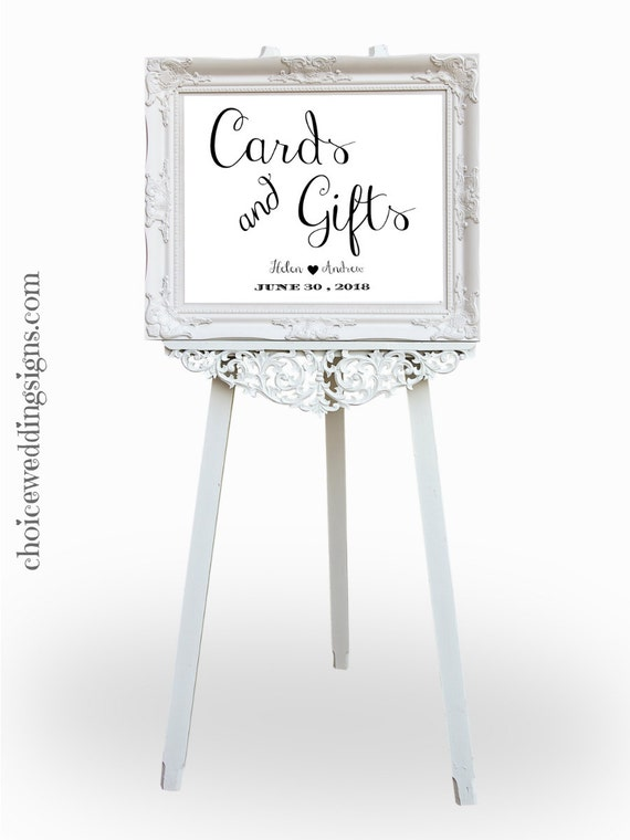 Cards And Gifts Printable Wedding Sign Gift Table Sign ...