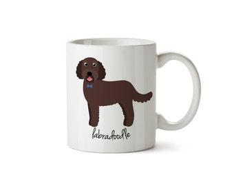 Labradoodle Mug (chocolate - boy)