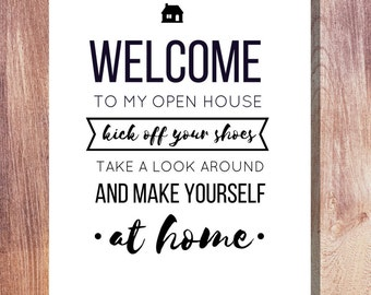 Modern Real Estate Open House Poster in White