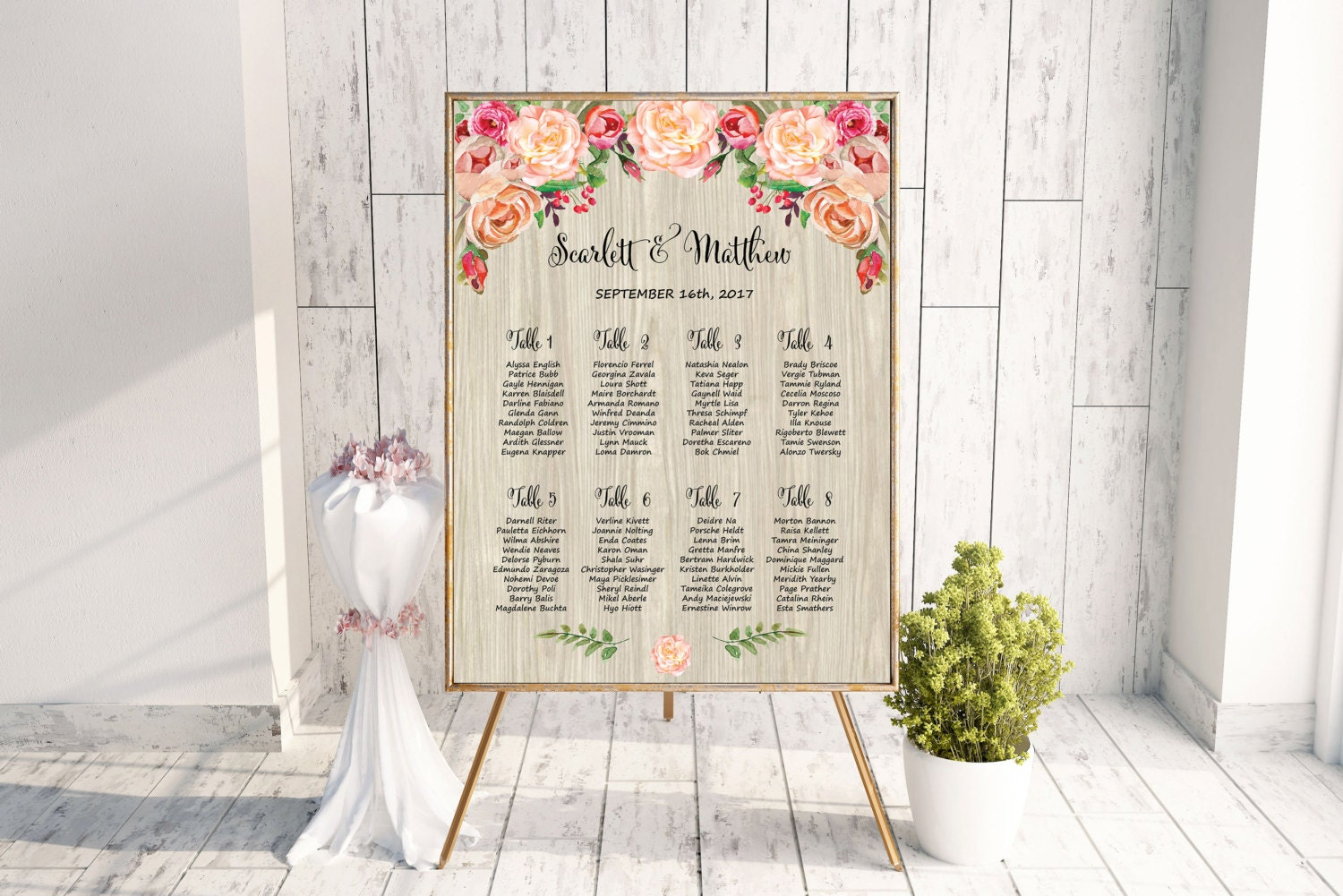 Rustic Wedding Seating Chart Template Printable Seating Chart ...