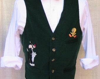 Large 90s Warner Bros Sylvester and Tweety Bird Vest