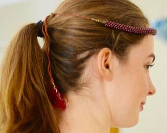 Antique  Garnet Hair Jewelry