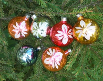 Xmas set ornaments white flower ornaments Outdoor decoration Glass Ornaments Christmas ornaments tree ornament decor Old Balls old ornaments