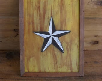 Hand Painted Nautical Star Compass Rose Ocean Beach House Coastal Decor Rustic Wall Art Upcycled Man Cave