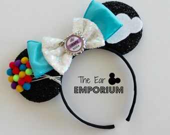 UP! Insipred Mouse Ears Headband ~ Balloons, Grape Soda and Clouds!