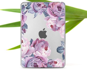 Purple Flowers iPad Case iPad 2 Case iPad Mini 2 Case iPad Mini 4 Case Floral Smart Cover iPad 3 Case iPad Air Case Pro 9.7 Case iPad 4 i022