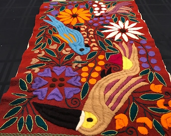 Multicolored Table runner from Chiapas