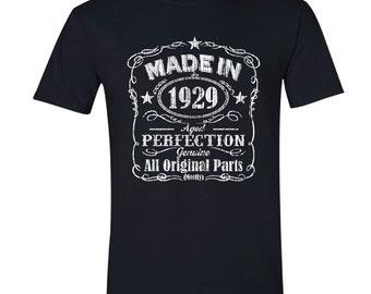 1929 birthday, 1929 shirt, 1929 T-Shirt, 1929, 1929 birthday shirt, Any Year Available