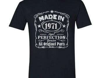 1971 birthday, 1971 shirt, 1971 T-Shirt, 1971, 1971 birthday shirt, Any Year Available