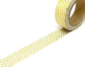 Gold Foil Fan Dots Washi Tape