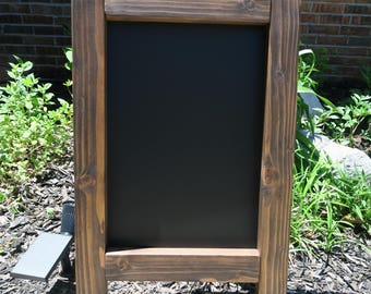 Chalkboard Easel - Espresso Stained Chalkboard Easel - Chalkboard Display - Wedding Chalkboard - Wedding Chalkboard Easel