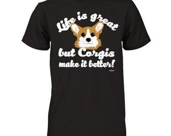 Corgi shirt   Corgis make life better   Funny Corgi Tee
