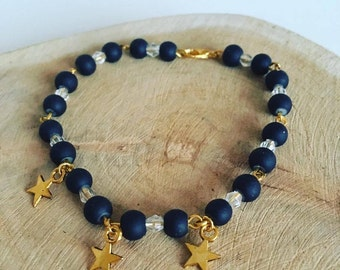 Perle star the night black & Gold Bracelet