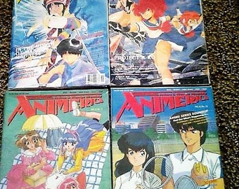 Lot of 4 Animerica anime and manga magazine//vol2 issue 9//vol 3 issue 10//vol 4 issue 12//vol 5 issue 1//1994-1997//anime//manga