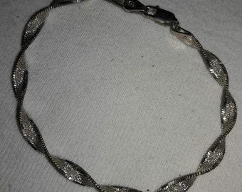 Sterling Silver 925 Twisted Italian Vintage Bracelet