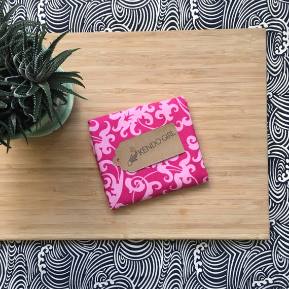 Kendo Tenugui, Japanese Cotton Tenugui - Pink Swirl Print from Kendo Girl