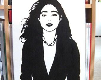 Golshifteh Farahani stencil painting
