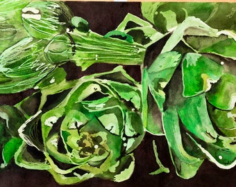 Artichoke Painting (print)