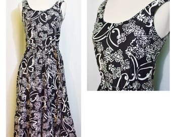 Malia Black/White Butterfly Print Dress