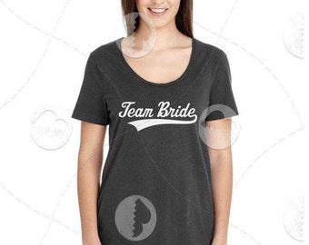 "Womens - Girls - l Premium Retail Fit ""Team Bride"" Fashion Tee"